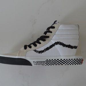 VANS Shoes - VANS SK8-HI DIY BLACK WHITE SNEAKER SHOES CANVAS S